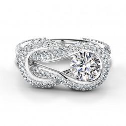 Encordia™ Szoliter Pavé Gyűrű