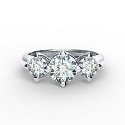 Forevermark Setting™ Three Diamonds Ring