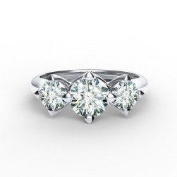 Forevermark Setting™ Three Diamonds Ring